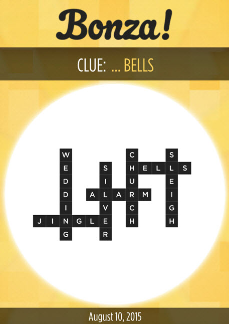 Bonza Daily Word Puzzle Clue ... Bells Answers August 10, 2015