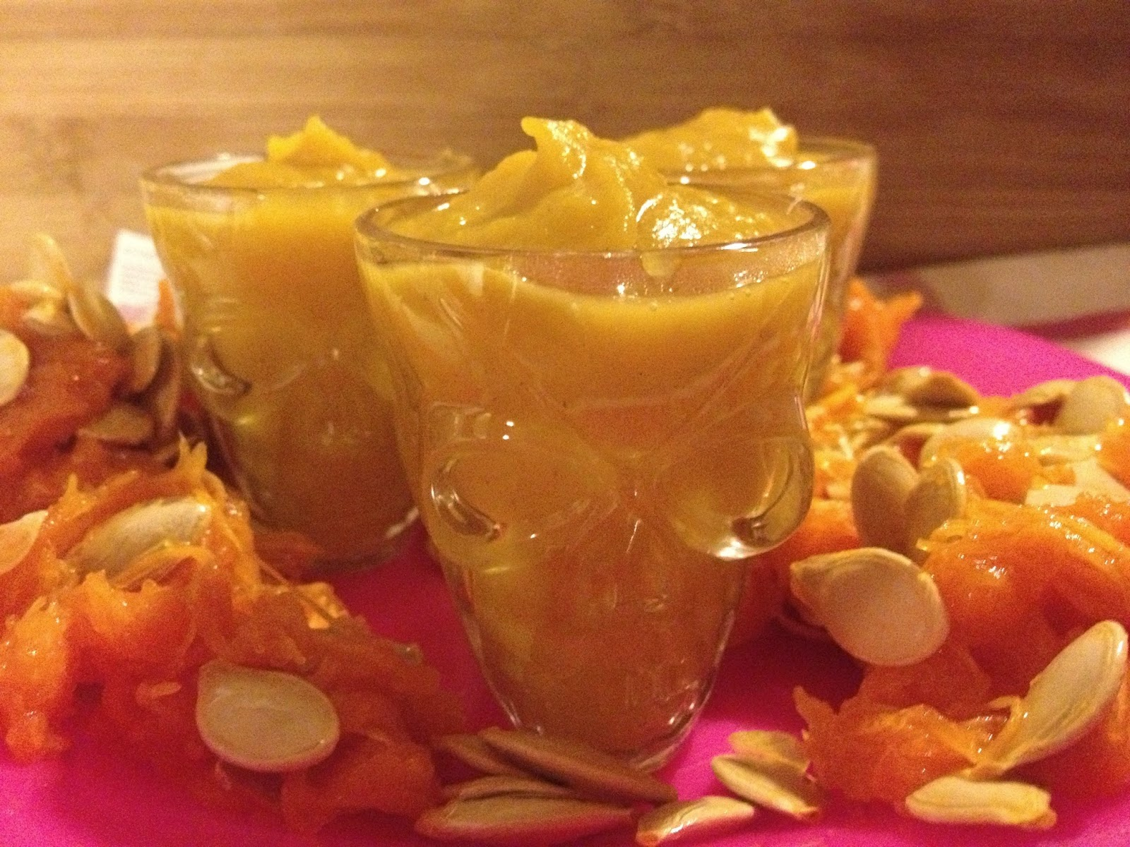 shot glass pumpkin soup