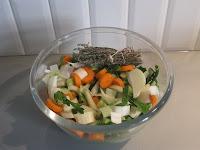 Légumes pour le vrai bouillon de poule