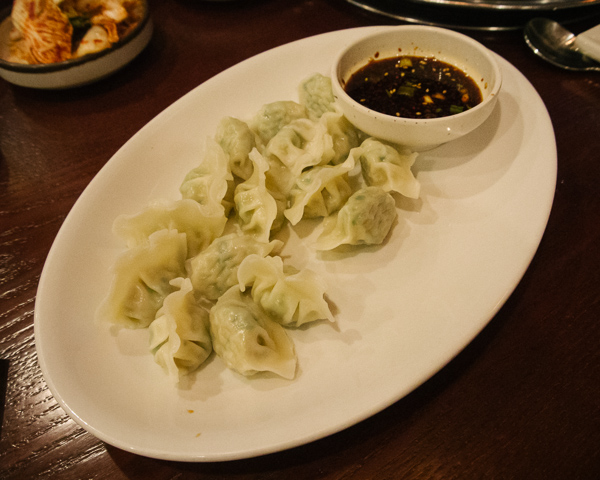 Steamed beef dumplings at Seoul Garden in Nashville Tennessee