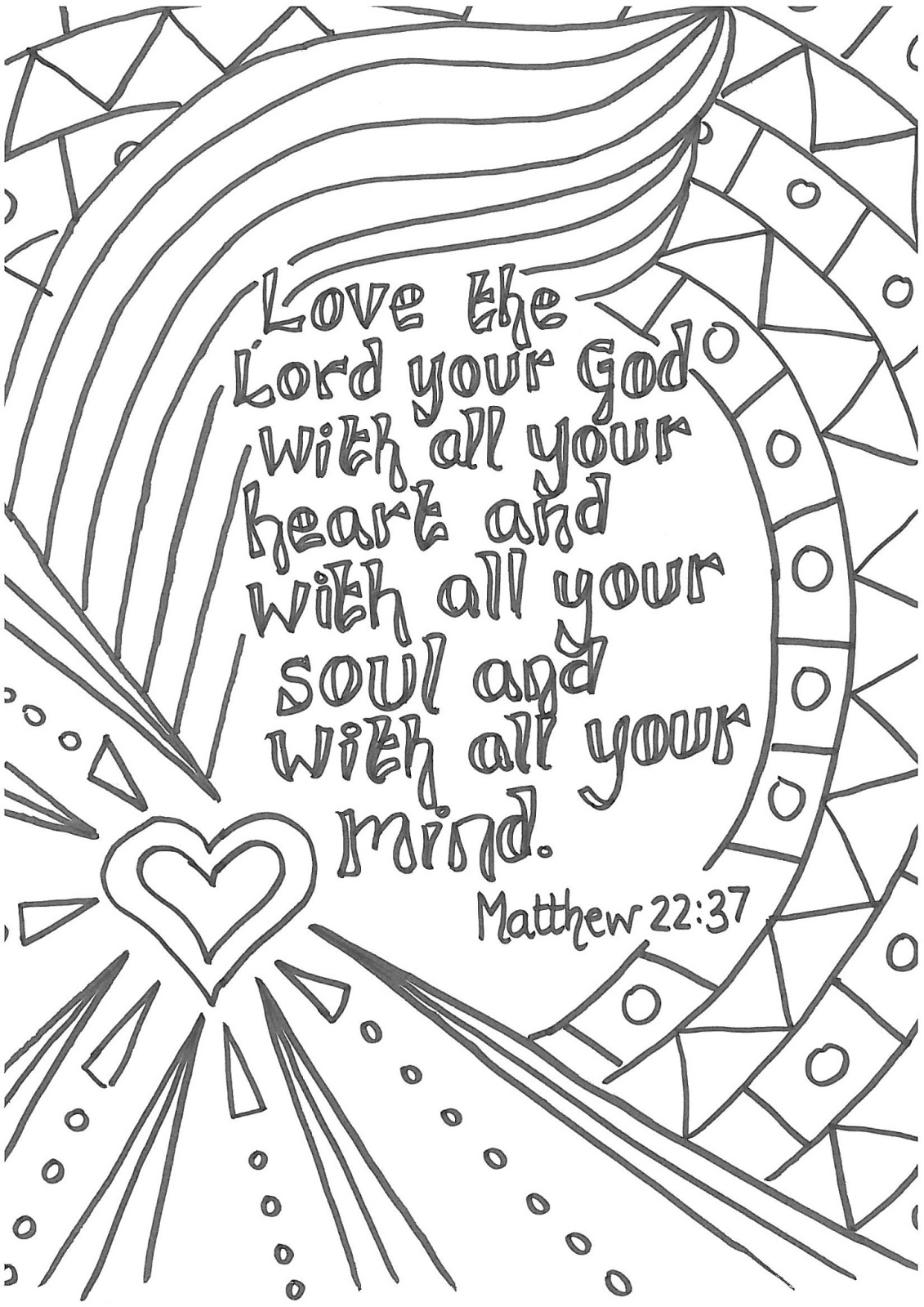 love bible verses coloring pages - photo#15