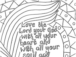 Precious Moments Cross Coloring Pages
