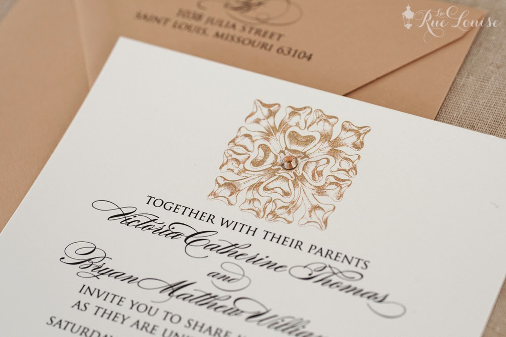 Wedding Collection: Square Medallion Invitation Suite