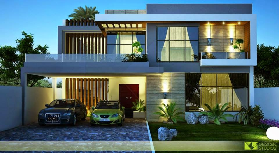 Front Elevation Of 1 Kanal House : One kanal house d front design