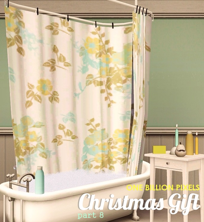 Christmas Gift Part 8 Shower Curtain Side Table