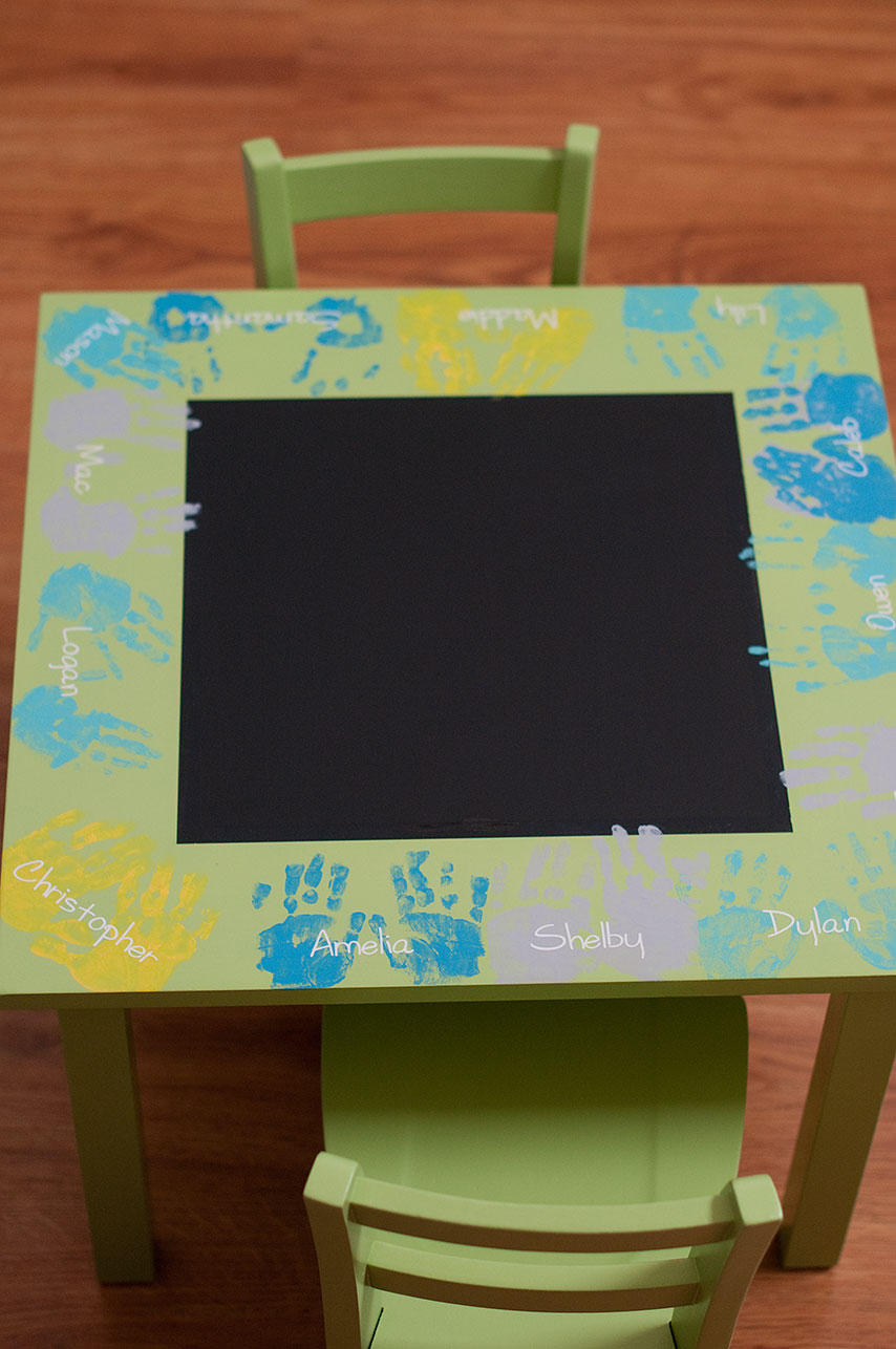 Little gray table preschool auction project for Html table class