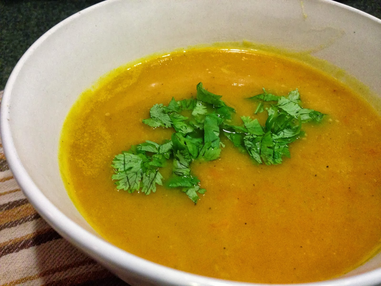 Some Sugar Added: Curried Butternut Squash & Carrot Soup