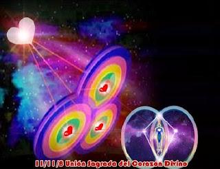 El 11/11/8 será el momento de la Unión Sagrada del Divino Corazón, donde serán recibidos los Códigos de Luz que se almacenan en el Corazón Planetario y en su propio Sagrado Corazón Divino.