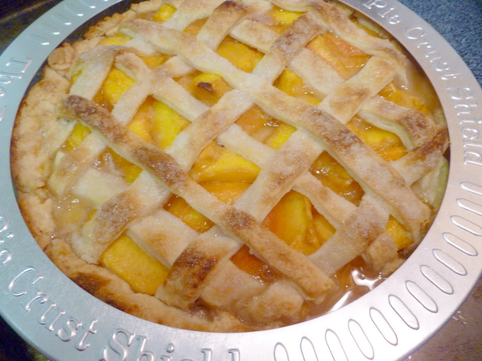 Peach Lattice Pie Recipe — Dishmaps