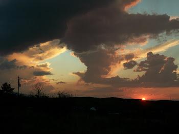 Sunst after storm