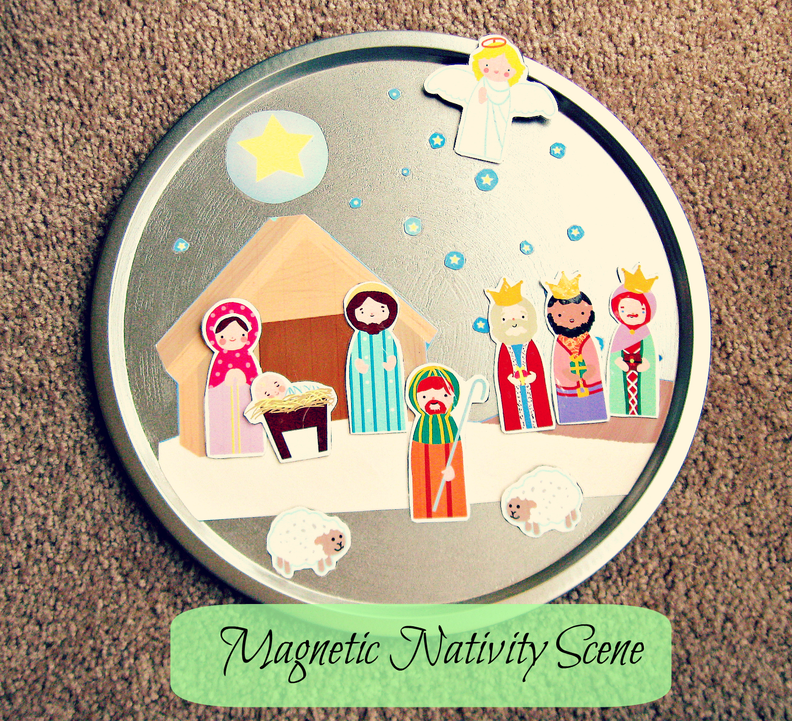 Freshly Completed Homemade Gifts Magnetic Nativity Scene