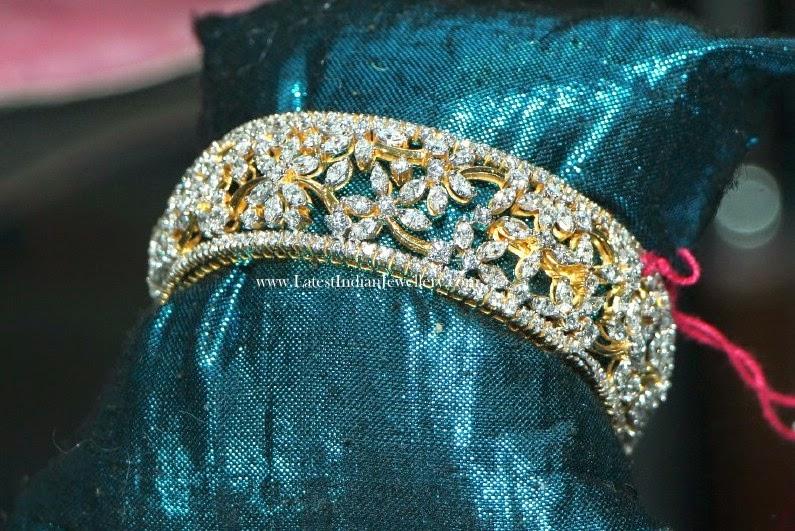 Latest Indian Diamond Bangle Designs