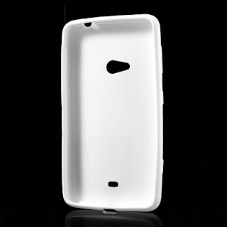 Frosted TPU Jelly Case For Nokia Lumia 625 - White