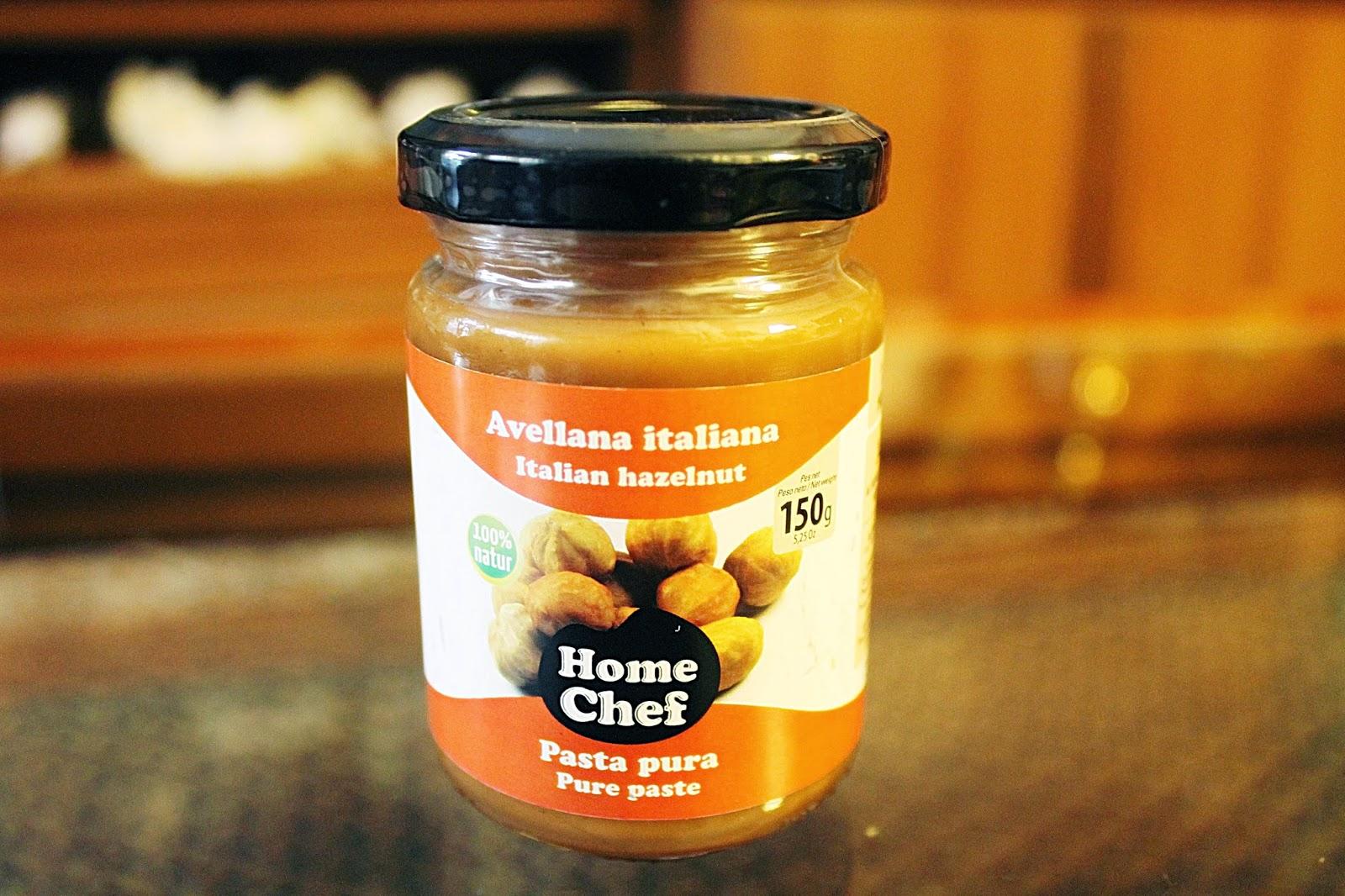 Pasta de avellana italiana