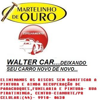 AMASSOU, RISCOU, DANIFICOU? WALTER CAR-MARTELINHO DE OURO