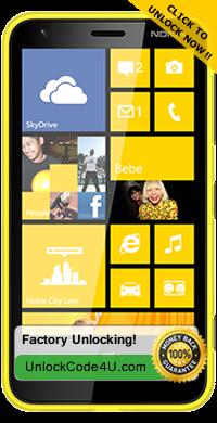 Factory Unlock Code for Nokia Lumia 620