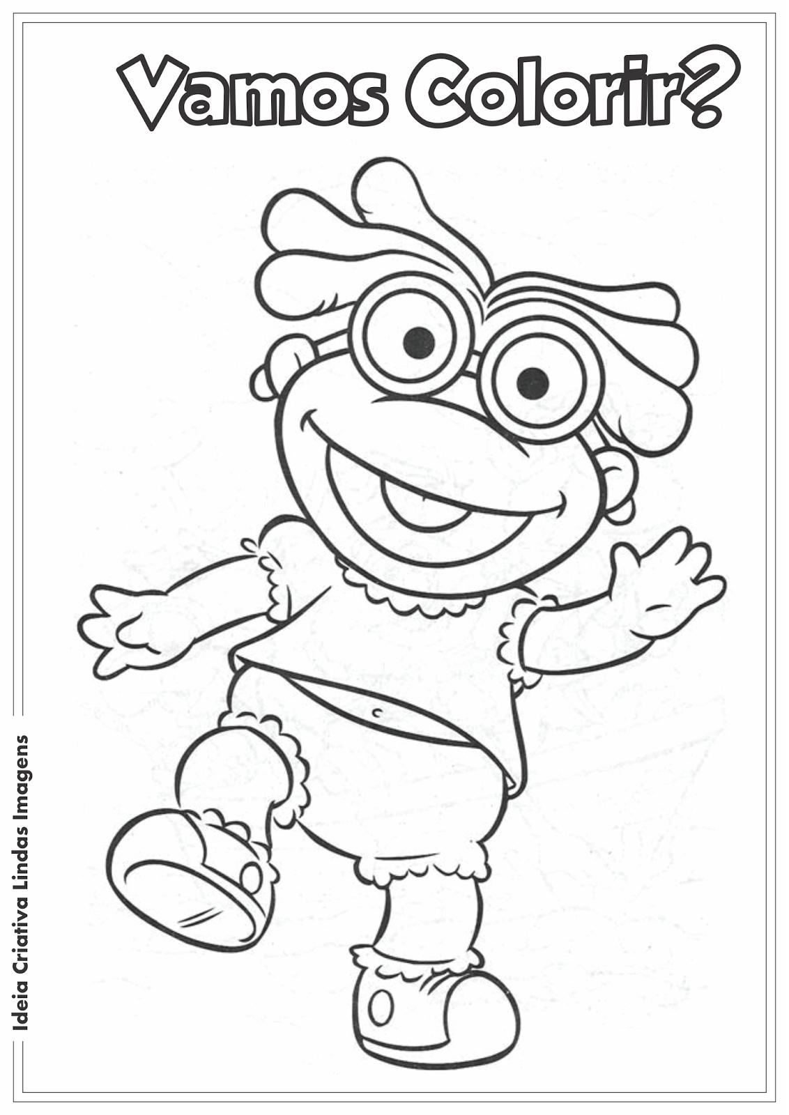 Desenho pra colorir - Os Muppets bebês