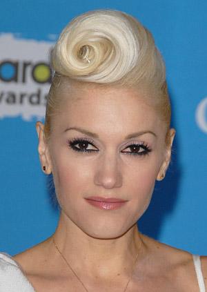 Gwen Stefani Pompadour Swirl hairstyle.