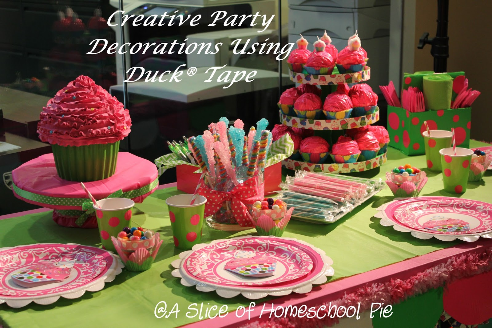 A Slice of Homeschool Pie: Beautiful Party Decorations Using Duck