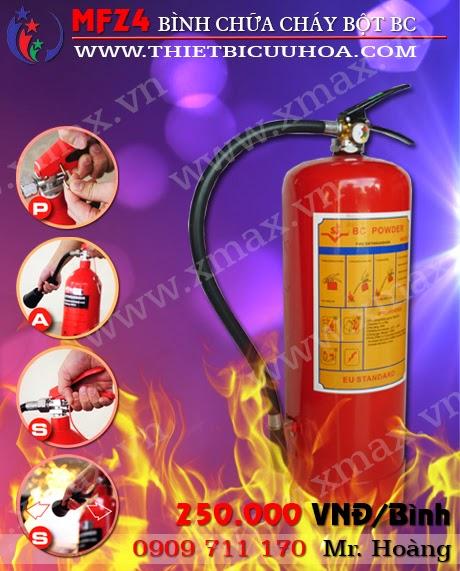 bình cứu hỏa bột bc 4kg