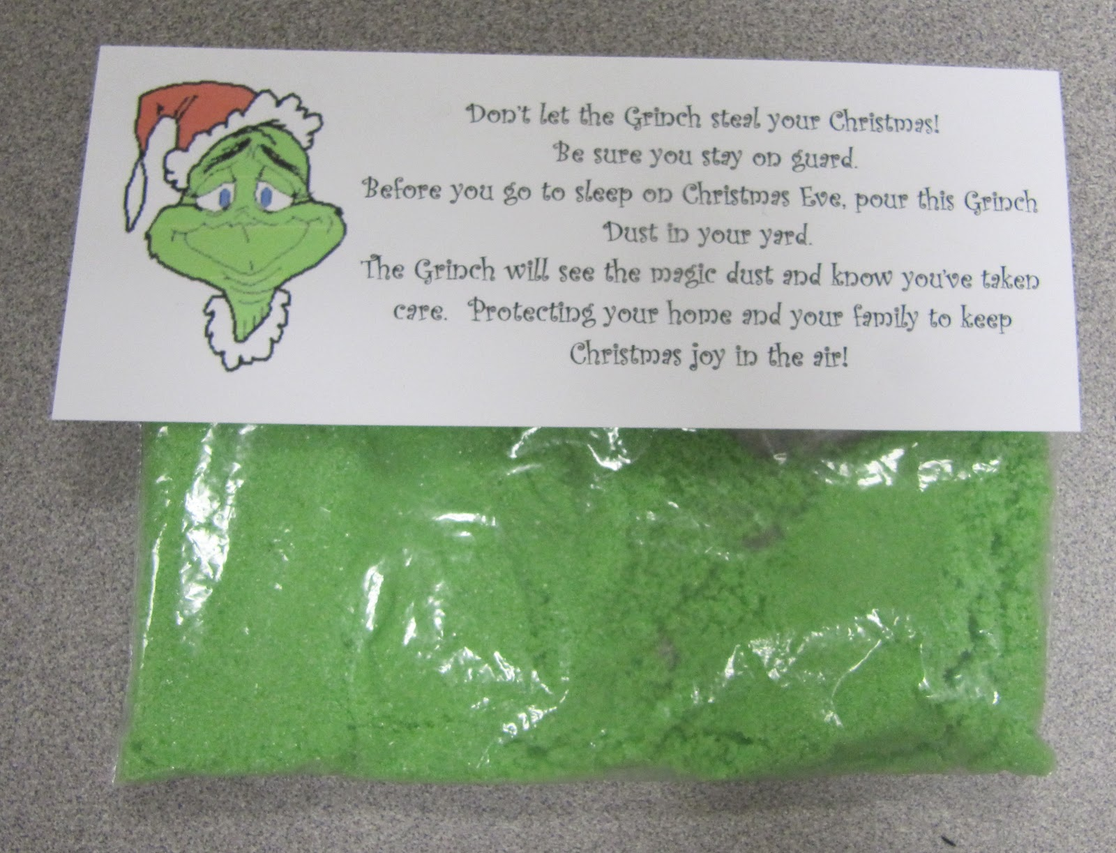 Mrs. Samuelson's Swamp Frogs: Making Grinch Dust Makes Grinch Day a ...