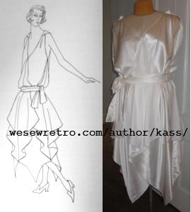 Free Pattern 1920's Sewing - Vionnet Flapper Dress