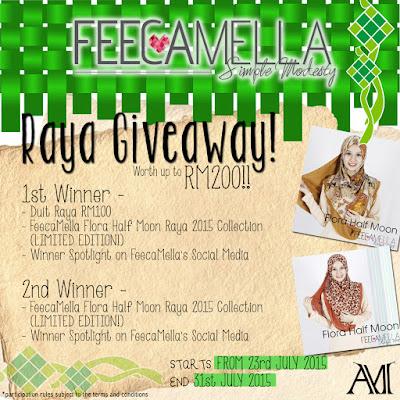 http://letaknamaterlalumainstream.blogspot.com/2015/07/feecamella-raya-2015-giveaway.html