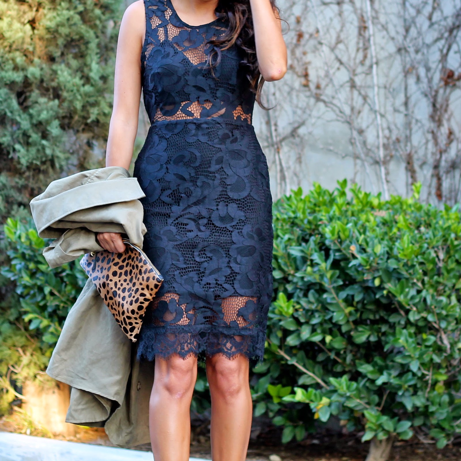 lace black dress, holiday style, NBD on REVOLVE, What to wear holiday party
