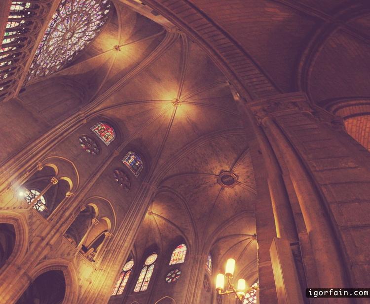 Notre Dame de Paris panaramma inside