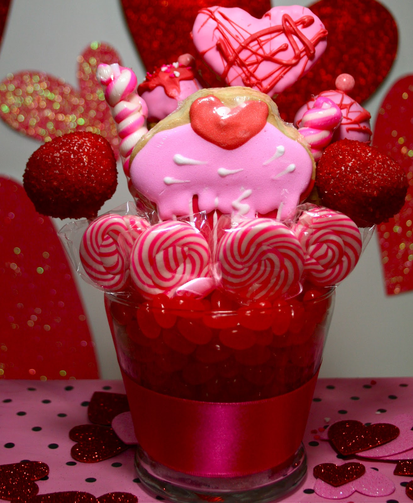 Valentines Day Candy, Cake Pop, Cookie Bouquets & Edible