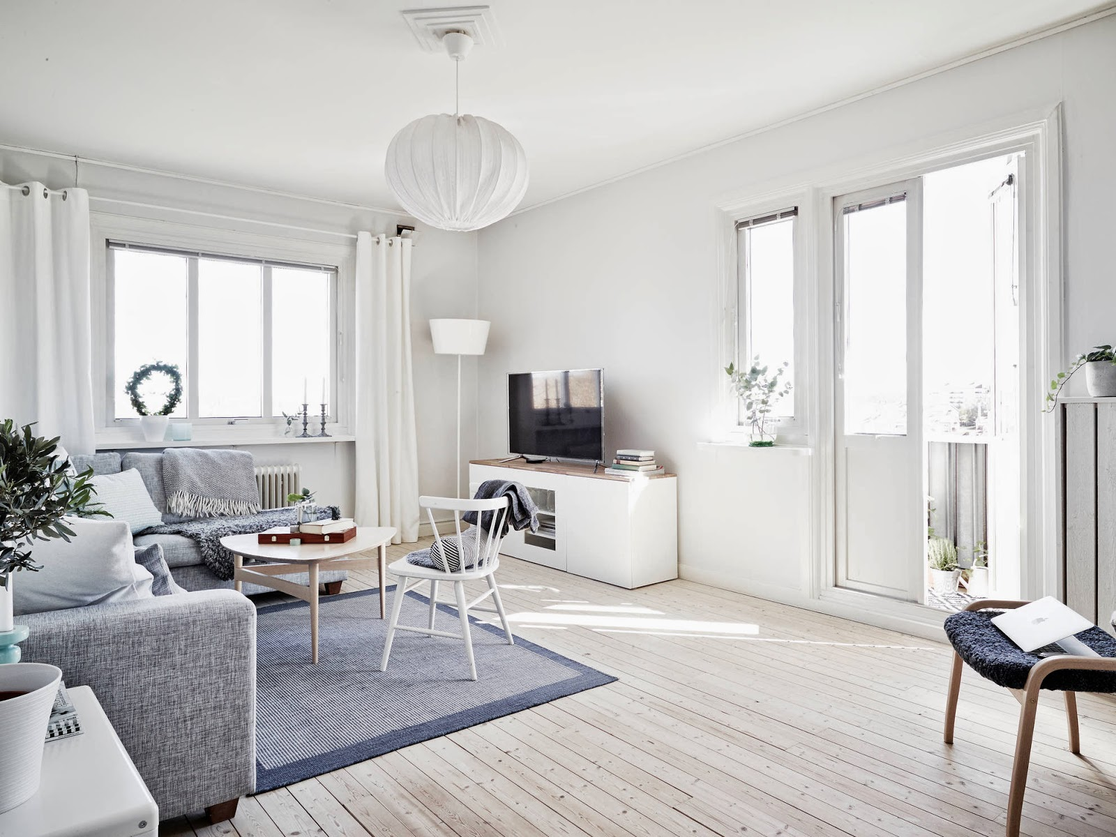 My scandinavian home a light and airy white and grey for C o the living room