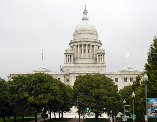 Rhode Island state capitol building in Providence