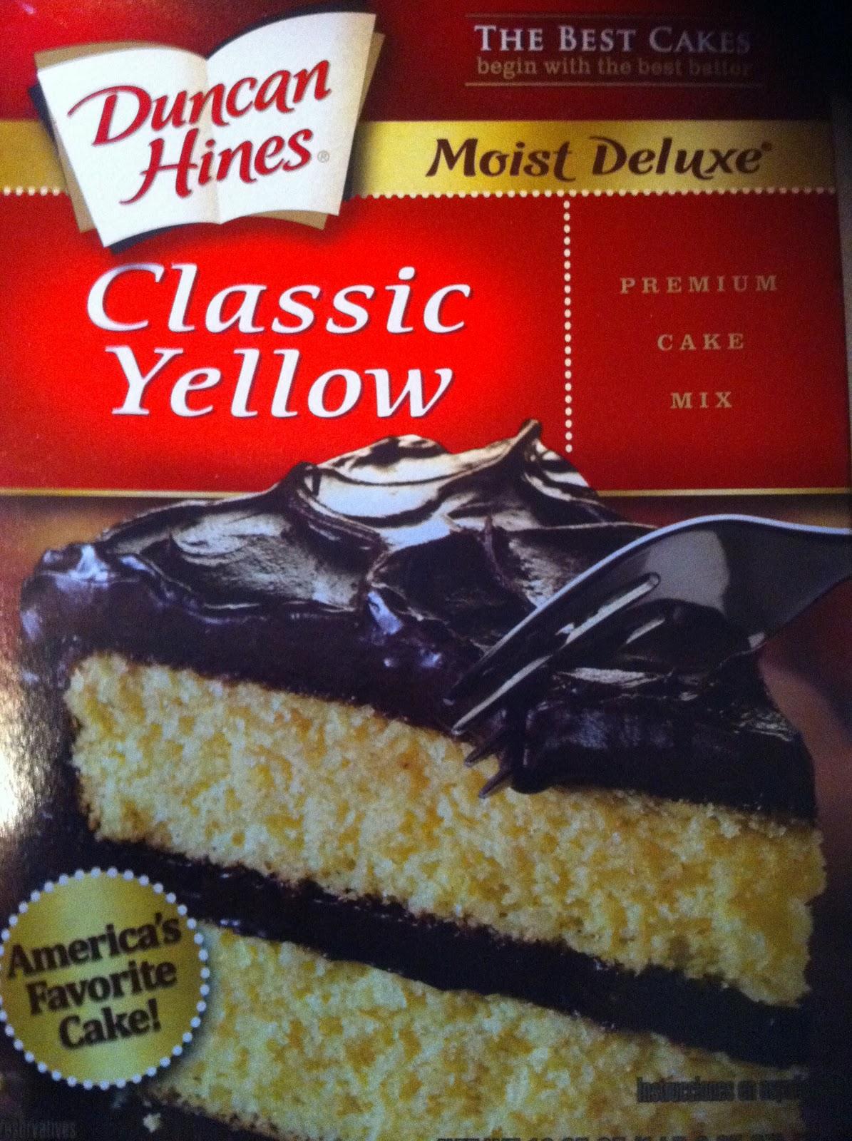 Yellow Box Cake In A Mug