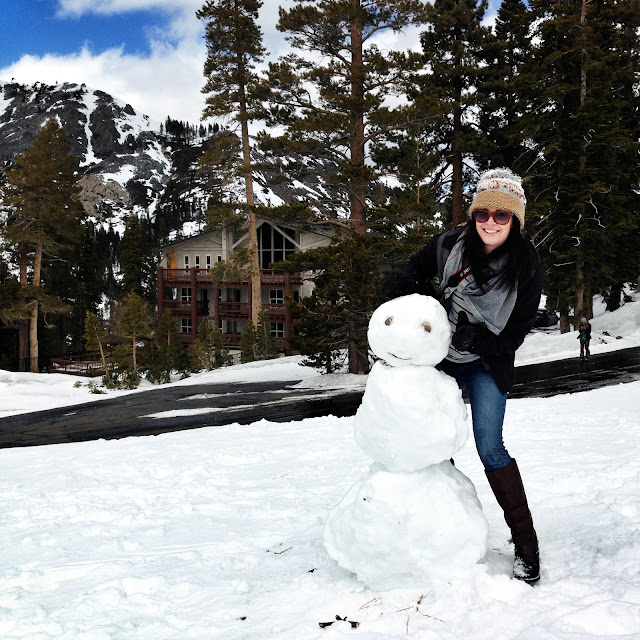 building snowmen at tahoe