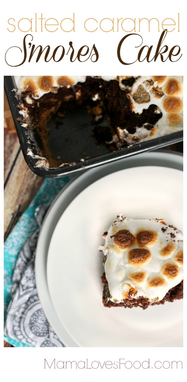Salted Caramel S'mores Cake