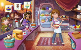 Screenshots of the Kitchen scramble for Android tablet, phone.