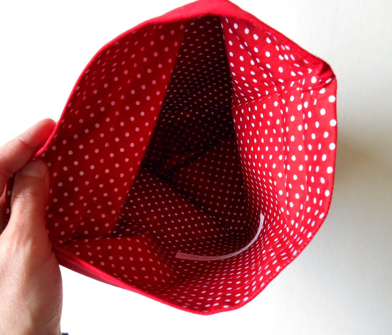 holiday gift sack interior