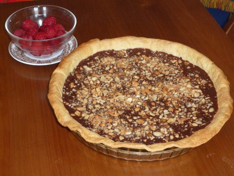 Tarte de Chocolate e Amendoins