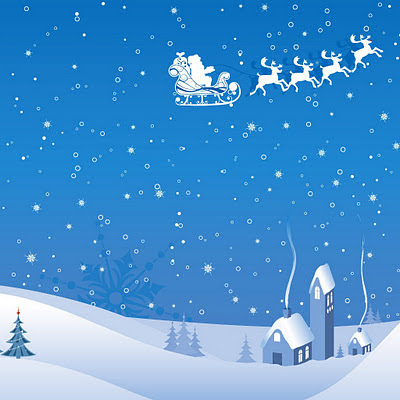 Christmas winter vector download free wallpapers for Apple iPad