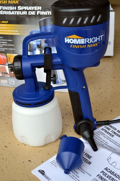This HomeRight Finish Max spray painter gun is the perfect tool for this job. It will leave the mailbox with a smooth finish and avoid paint brush strokes.