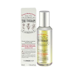 The Face Shop's The Theraphy Oil-Drop Anti Aging Serum Pelembab Skin Care Korea Kulit Kering
