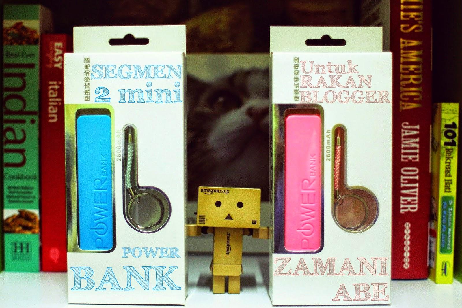 Segmen 2 Mini Power Bank Untuk Rakan Blogger Zamani Abe