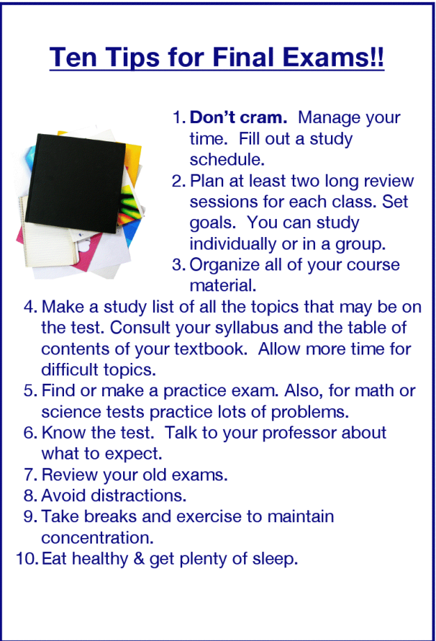 English Honori Garcia: Final Exams Tips