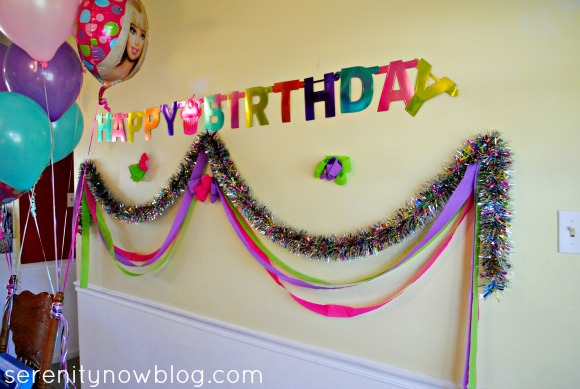 Barbie Birthday Party Decorations, from Serenity Now blog