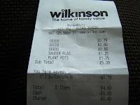 wilkinson receipt