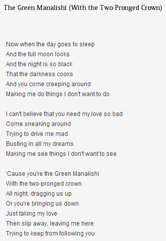 The Green Manalishi letra judaspriest
