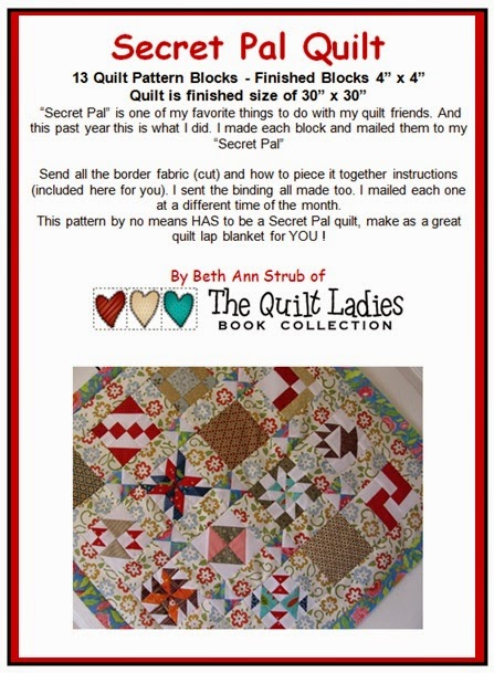 Sceret Pal Quilt Pattern from The Quilt Ladies Store