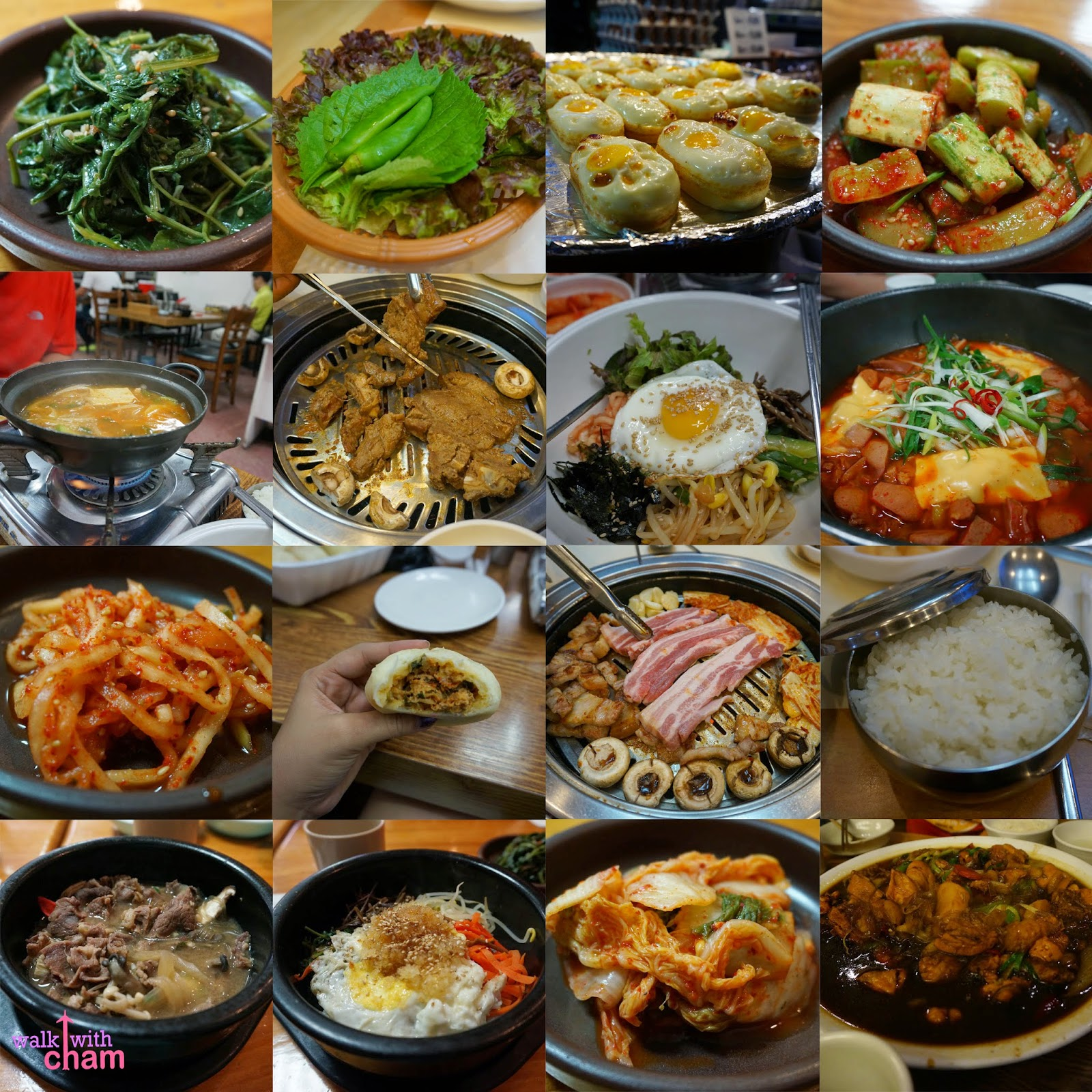 walk with cham what to eat in seoul south korea. Black Bedroom Furniture Sets. Home Design Ideas