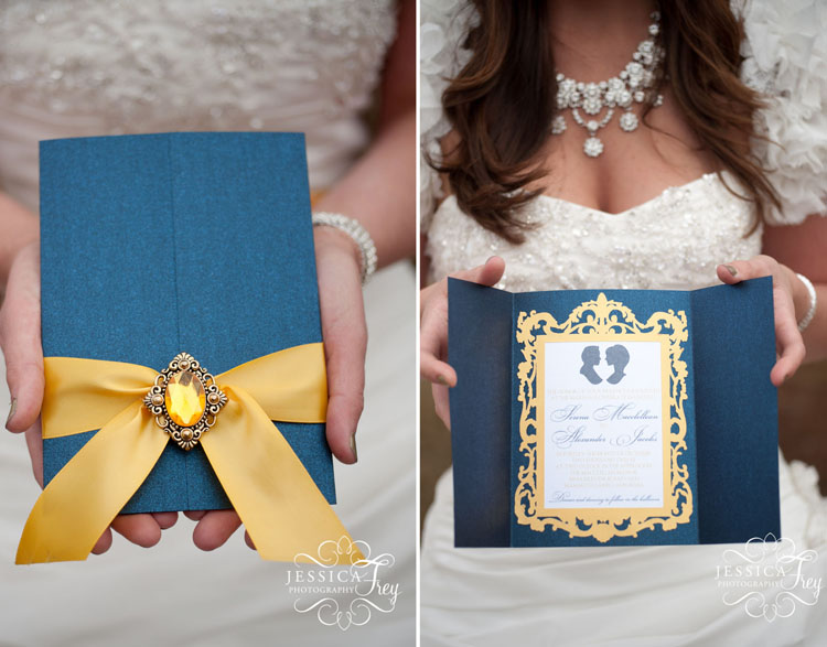Yellow-navy-wedding-Beauty-Beast-inspira