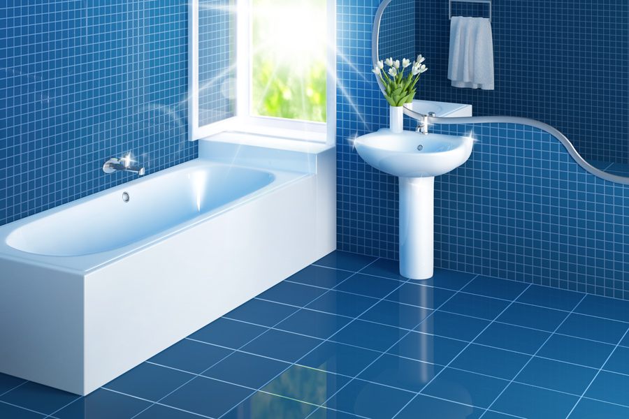 How to clean bathroom tiles How to clean bathtub